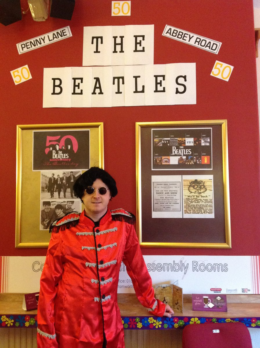 beatles tribute display